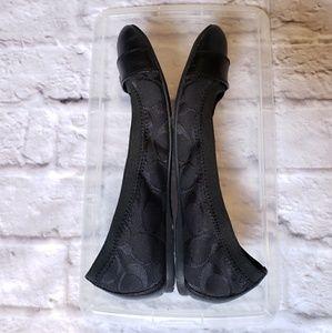 Coach Shoes - COACH  Chelsey Black Flats 5.5